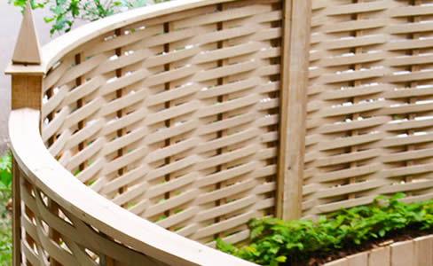 oak curved fencing