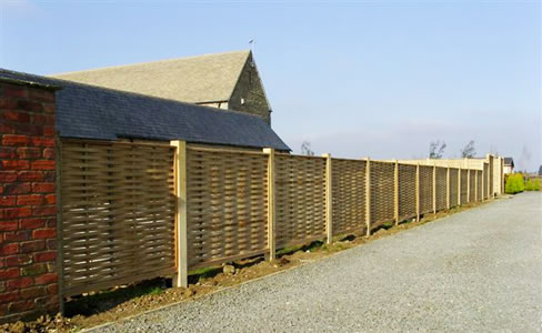 oak fencing post